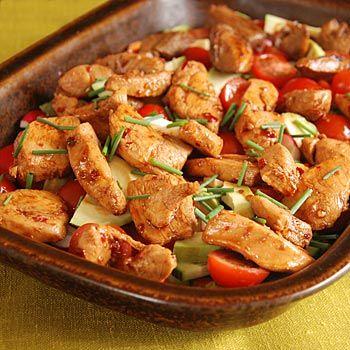 nyttig kycklingsallad recept