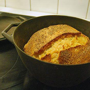 bröd som inte behöver knådas