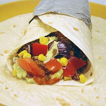 recept burritos köttfärs