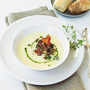 potatissoppa purjolök recept